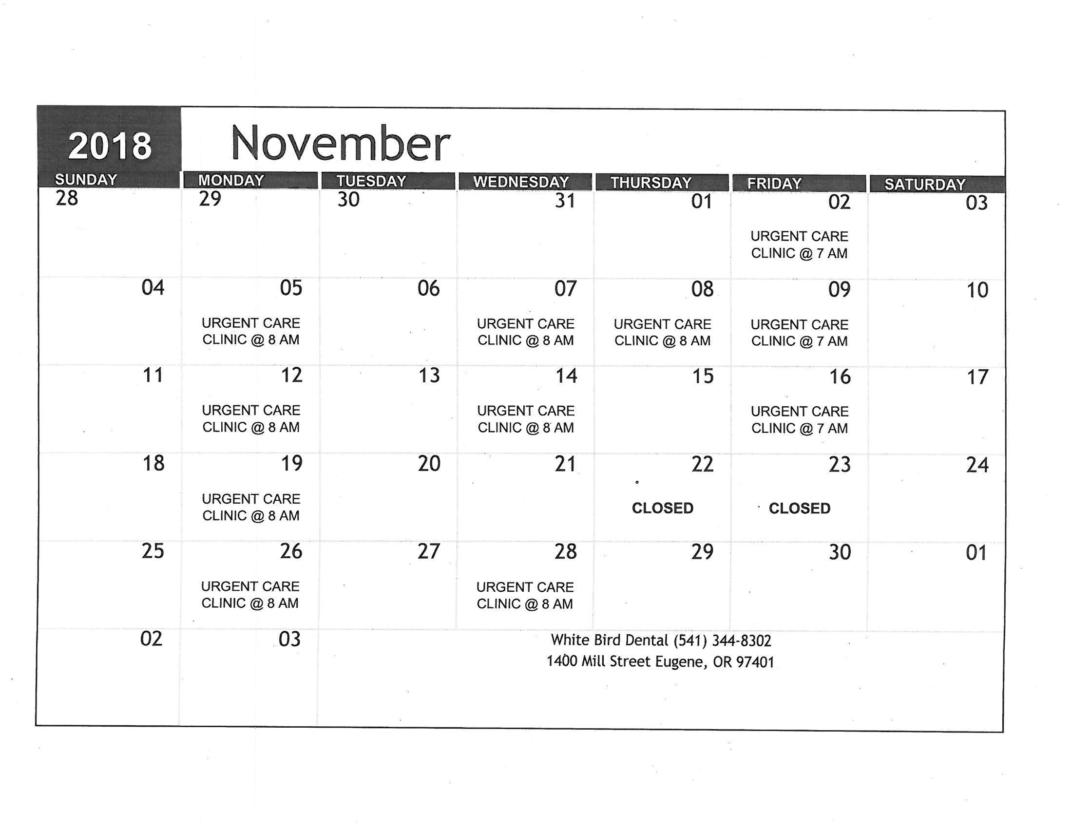 calendar-dental